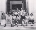Photograph of the International Relations Club from the 1951 Tomokan