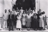 Photograph of the Race Relations Club from the 1951 Tomokan
