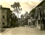 Yard between Pugsley and Mayflower Halls, (ca.) 1940