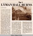 Lyman Gymnasium Burns