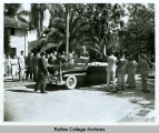 President Truman Standing in a Car While Visiting Rollins Campus