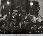 President Roosevelt Speaking at the Knowles Memorial Chapel