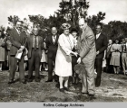 Hamilton Holt with Frances Knowles Warren at the Warren Administration Building Groundbreaking