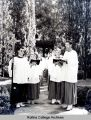 Chapel Choir lines up in 1951 - 1952