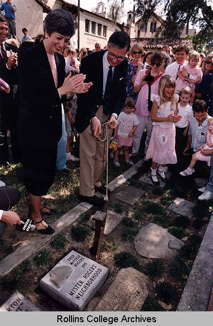 Fred Rogers And Walk Of Fame Stone Faces Of Rollins Rollins Digital Collections